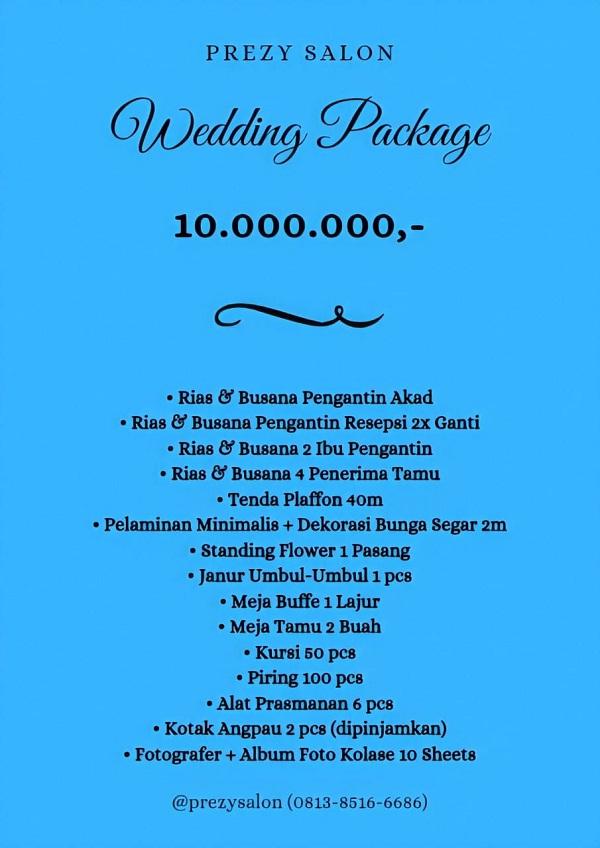 Paket Pernikahan Rumah Tipe C Murah di Prezy Salon